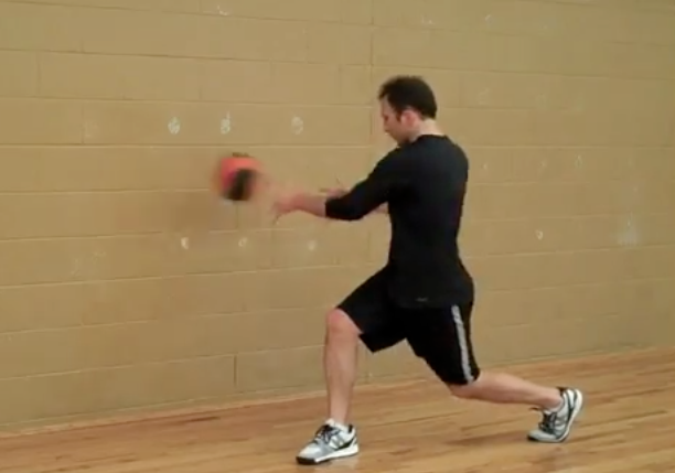 Med Ball Split Stance Rotational Throw